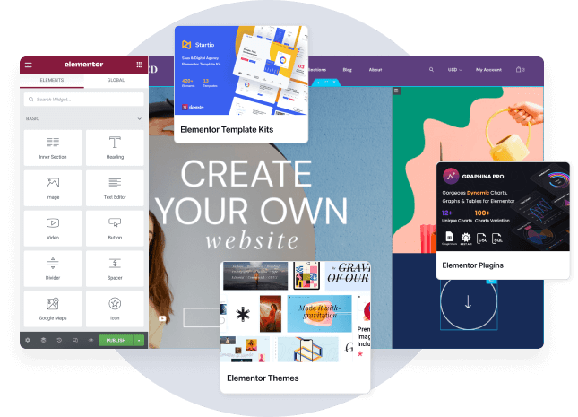 Create your own website with Elementor